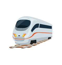 Speed modern white railway train locomotive vector