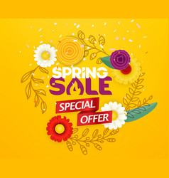 spring sale advertising banner special offer vector image