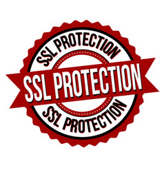 ssl protection label or sticker vector image