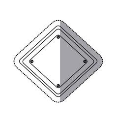 Sticker silhouette diamond traffic sign vector