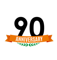 Template 90 years anniversary background with vector