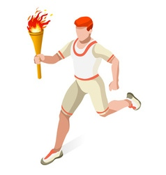 Torchbearer 2016 Sports 3D Isometric vector image