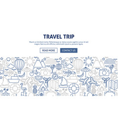 travel trip banner design vector image