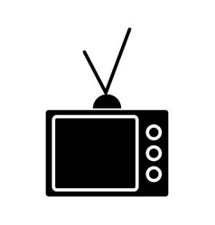 tv vintage televisor icon vector image