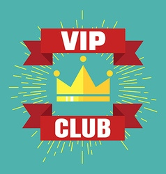VIP club logo in flat style VIP Club members only vector