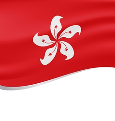 Waving flag of Hong Kong isolated on white vector image