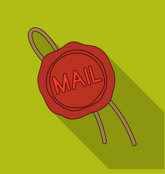 wax sealmail and postman single icon in flat vector image