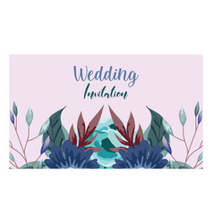 wedding ornament floral and herbs greeting card or vector image