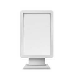 white vertical realistic 3d mockup blank stand vector image