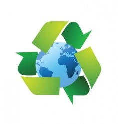 world recycle vector image