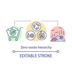 Zero waste hierarchy concept icon environment vector