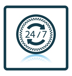 24 hour taxi service icon vector image vector image