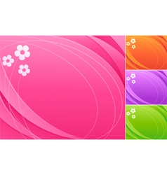 abstract colorful backgrounds vector image vector image