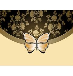 beige flower background vector image vector image