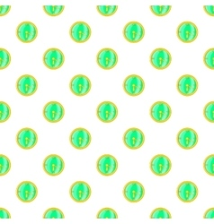 Clock pattern cartoon style vector image