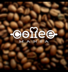coffeemania label vector image