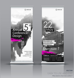 design of a roll up vertical banner vector image