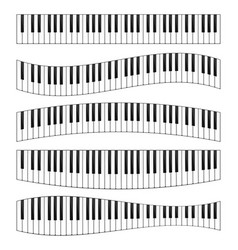 piano keyboard image set vector image