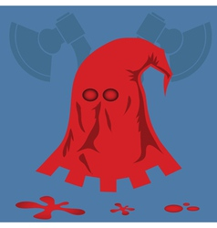 red executioner mask vector image vector image