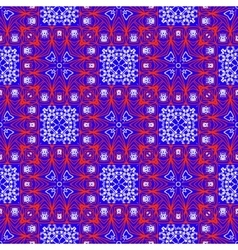 Seamless ethnic print pattern vector image