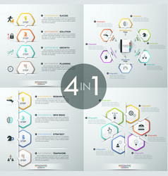 set of 4 infographic design templates vector image