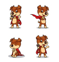 Superhero Puppy Dog 01 vector image