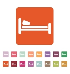 The bed icon Hotel symbol Flat vector image