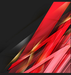 abstract black and red background vector image