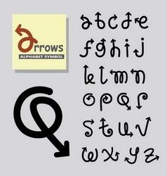 Arrows Alphabet Symbol vector image vector image