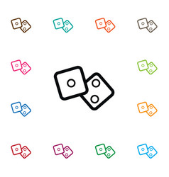 isolated cube icon number element can b vector image vector image