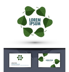 Nature Leaves in the circle Logo icon emblem vector image
