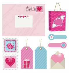 pink postage vector image vector image