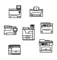 Printer icons vector image vector image