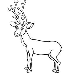 wapiti deer cartoon coloring page vector image vector image