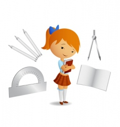 book and tools vector image vector image