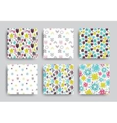 Decorative seamless patterns set vector