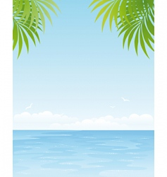 ocean poster vector image
