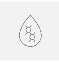 Oil drop line icon vector