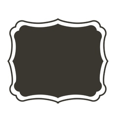 Silhouette horizontal border heraldic with vector