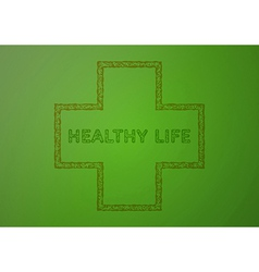 stamp with healthy life vector image
