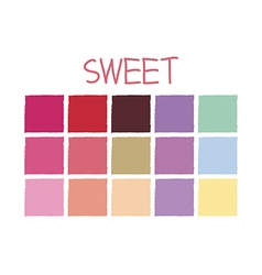 Sweet Color Tone without Code vector image vector image
