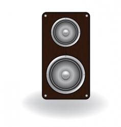 Wooden loud speaker vector