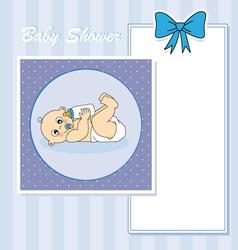 Baby boy arrival vector image vector image