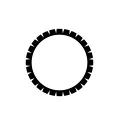 Dham Wheel Icon Religion symbol vector image