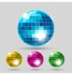 Disco ball set vector image