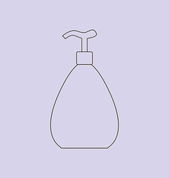 Dispenser bottle icon vector