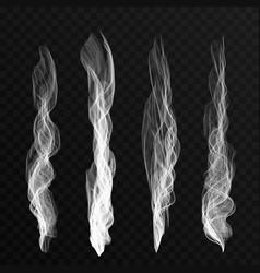 smoke waves set on transparent background vector image