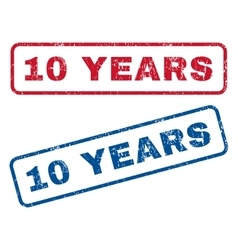10 Years Rubber Stamps vector