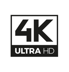 4k ultra hd symbol vector