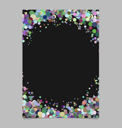Abstract blank confetti ring poster background vector